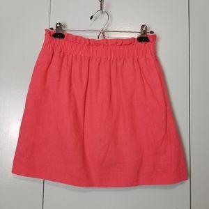 J.Crew orange linen lined skirt size 8 -Y2